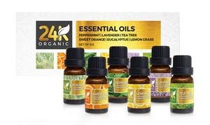 24K Organic Aromatic Essential Oil Set (6-Pack)