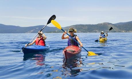 Alquiler de kayaks o de tablas de paddle surf durante 2 horas con  Kayakaventur (hasta 77% de descuento)