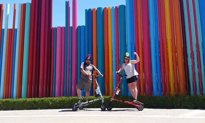 Trikke Las Vegas - Downtown: Electric Trikke Tour for One or Two, Plus Food Vouchers for Bar Bistro at Trikke Las Vegas (Up to 42% Off)