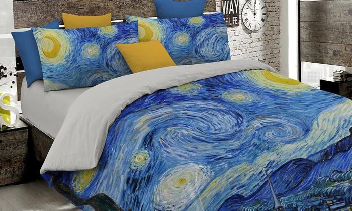 bettw sche mit gem lde motiven groupon. Black Bedroom Furniture Sets. Home Design Ideas