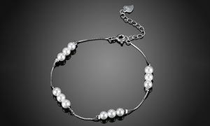 Freshwater Pearl Bracelet Italian Sterling Silver by Jewelry Elements