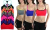 ToBeInStyle Women's Mesh-Lining Double-Layered Sports Bra