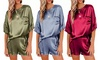 Satin Casual Two-Piece Pyjama Set