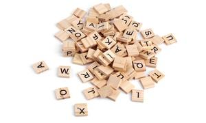 Lettres en bois jeu de Scrabble