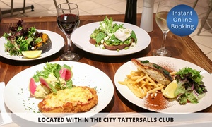 Zest Kitchen: 2-Course Dinner + Wine for 2 ($49), 4 ($98) or 6 People ($147) at Zest Kitchen at City Tattersalls Club (Up to $300.60)