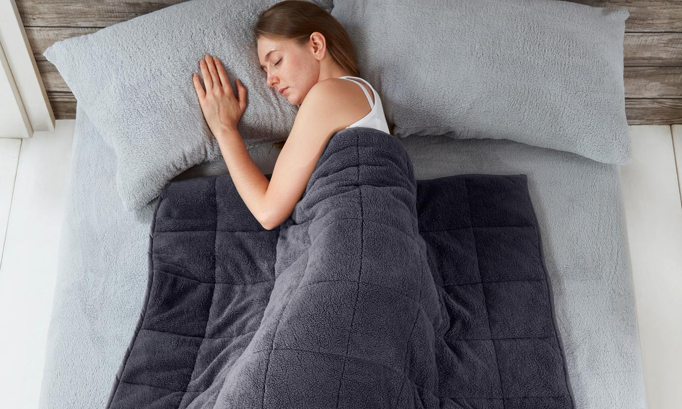 Pieridae Cosy Teddy Weighted Blanket for £26