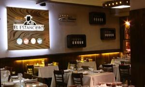 El Estanciero: Desde $449 por cena o almuerzo para dos con entrada + plato principal + guarnición + postres + bebidas en El Estanciero