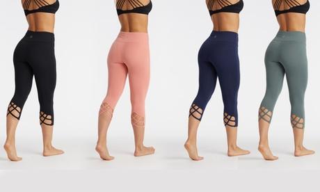 Marika Women's Cut-Back High-Waist Crop Leggings