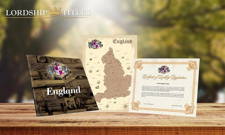 $15 for a Lord or Lady's Decorative Title Package form Lordship Titles (Up to $46.63 Value)