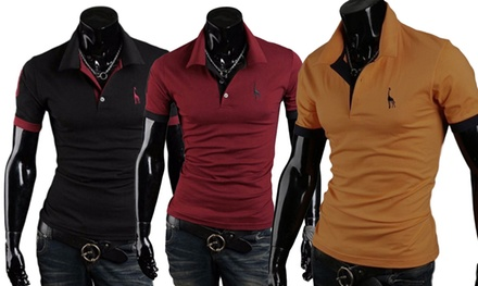 Two-Pack of Mens Short-Sleeved Polo Shirts