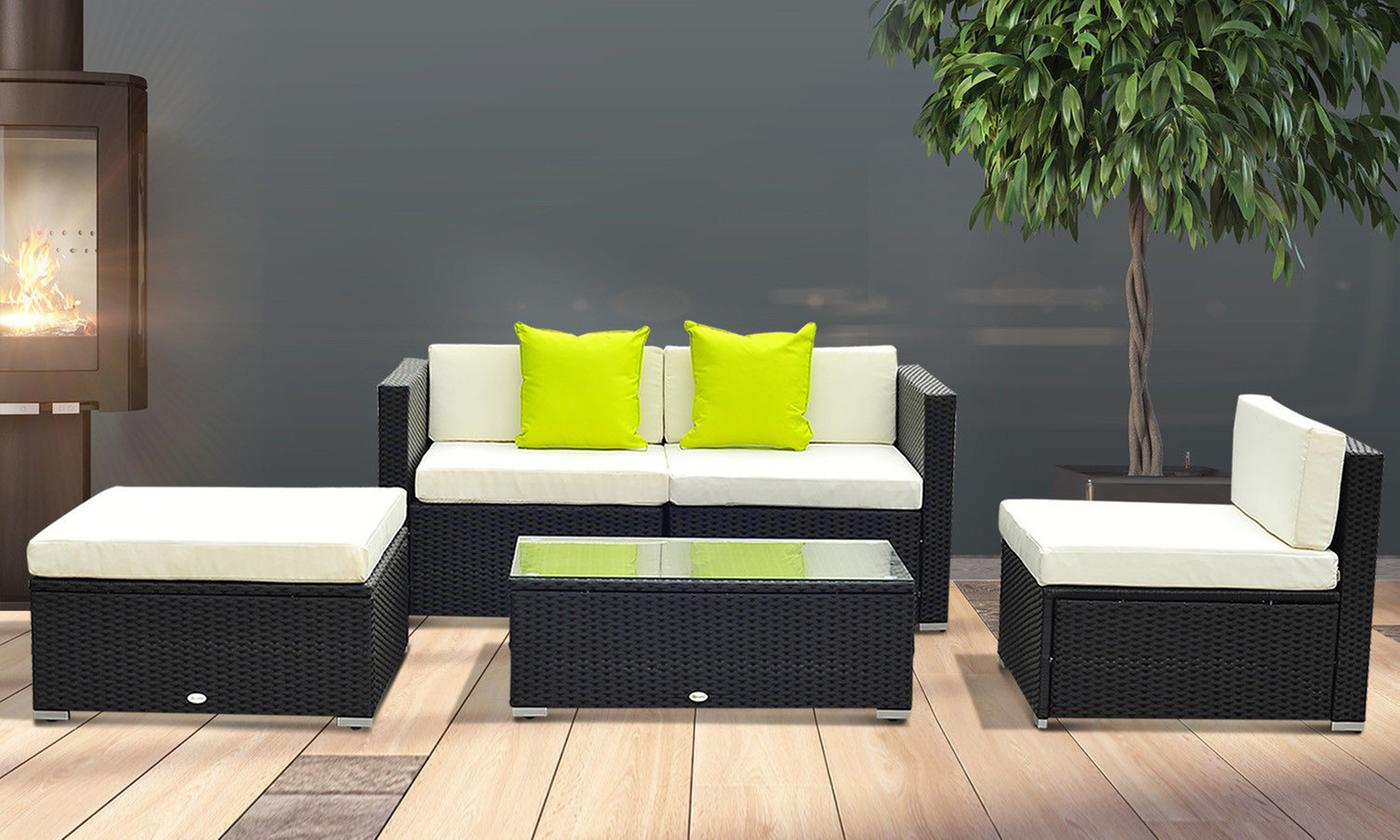 outsunny-rattan-effect-five-piece-modular-sofa-set