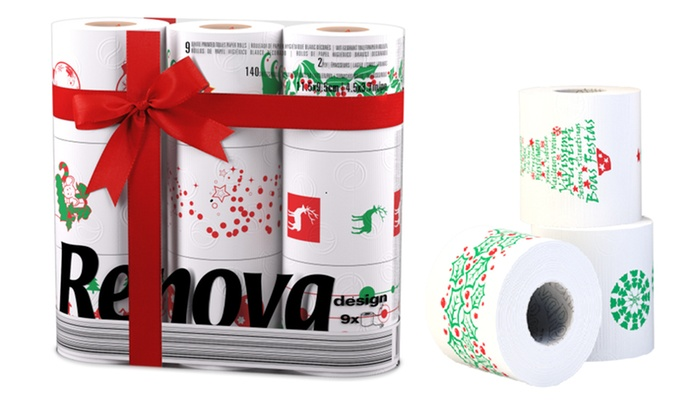 Renova Christmas Toilet or Kitchen Rolls from £3.50