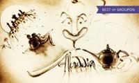 """Family-Ticket für """"Aladdin und die Wunderlampe in Sand gemalt"""" am Termin nach Wahl in der Elbarkaden Lounge(46% sparen)"""