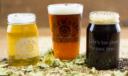 Brewery Tour With Souvenir Pint Glasses or Mason Jars for Two, Four, or Six at FireWheel Brewing Co. (45% Off)