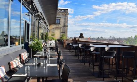 Dîner romantique avec vue panoramique sur Bordeaux en 2 ou 3 services à la carte pour 2p. dès 49,90€ au restaurant Siman