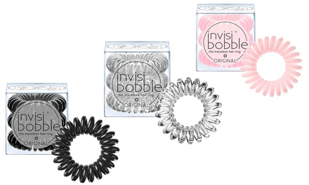 12 o 18 elastici impermeabili per capelli Invisibobble