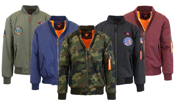 904eb9cc8 Up To 55% Off on Men's Heavyweight Bomber Jackets | Groupon Goods