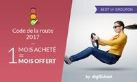Entrainement complet au code de la route pour 2 mois à 9,99 € avec DigiSchool (50% de réduction)