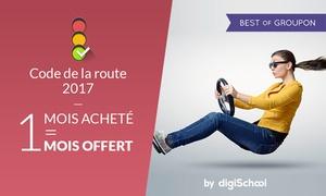 DigiSchool: Entrainement complet au code de la route pour 2 mois à 9,99 € avec DigiSchool (50% de réduction)
