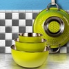Stainless Steel Mixing Bowls Set with Colander (4-Piece)