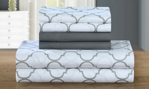 Optica Super-Soft Brushed Microfiber Geometric Print Sheet Set