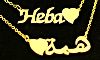 Personalized Necklace or Bracelet in Choice of Design from AED 49 (Up to 72%)