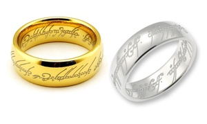Bague thème Seigneur des anneaux