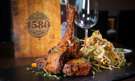 ThreeCourse Indian Meal with Side for Up to Six at 1580