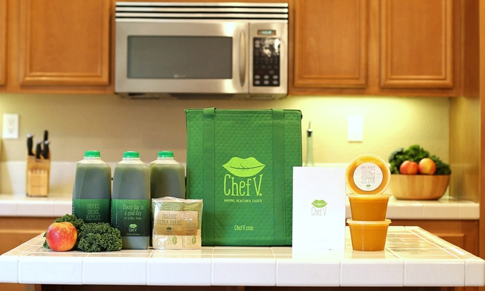 Chef V: Three-, Five-, or Seven-Day Juice Cleanse from Chef V (Up to 54% Off )