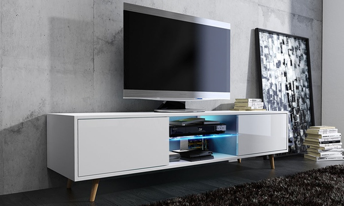 meuble tv moderne groupon. Black Bedroom Furniture Sets. Home Design Ideas