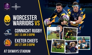 Worcester Warriors: Worcester Warriors Rugby Match, Child or Adult Ticket, 13 and 27 January, Sixways Stadium (Up to 50% Off)