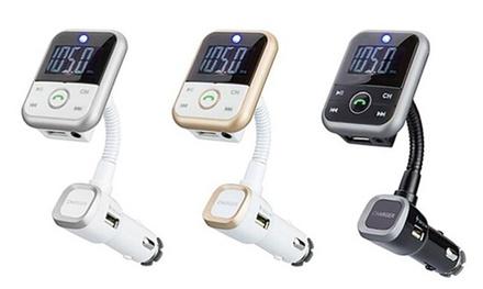 Kit Bluetooth 4 en 1 pour voiture avec émetteur FM et télécommande