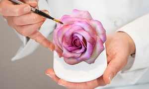 The Classic Cupcake Co.: From $29 for Foundant Rose Cake Decoration for Beginners with Bubbles at The Classic Cupcake Co (From $150 Value)