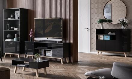 Houten meubilair Vero: tv kast, salontafel, ladekast, boekenkast, los of samen