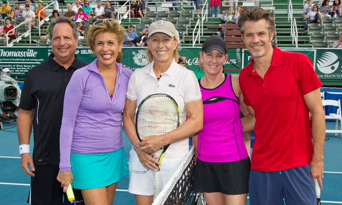 Chris Evert Charities, Inc. - Delray Beach Tennis Center: Admission to Charity Tennis Classic for One, Two, or Four from Chris Evert Charities, Inc. (Up to 50% Off)