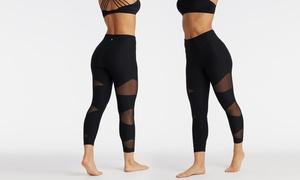 Bally Total Fitness Women's Mesh-Insert Mid-Calf Leggings