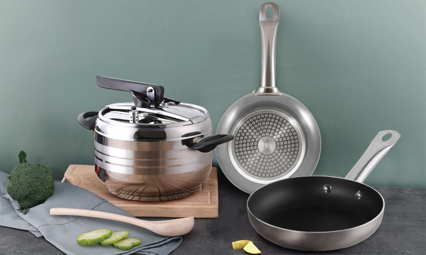 Set of Two Bergner The Professional Chef Platinum Collection Pans With Free Delivery
