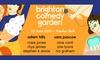 Brighton Comedy Garden 2019 with Sarah Pascoe & Adam Hills