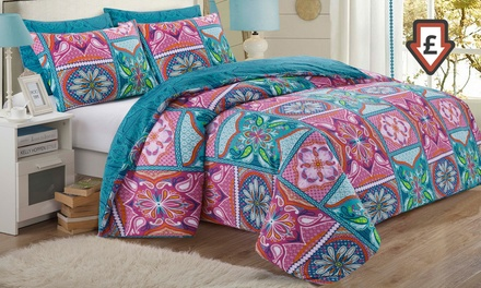 Patchwork Mandala Duvet Cover Set