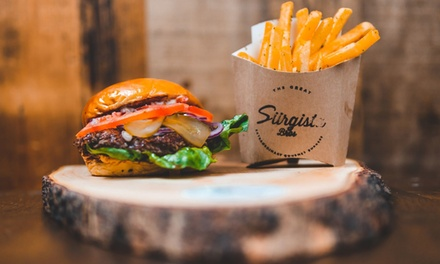 Gourmet Burger, Fries and Choice of Drink for One or Two at Siirgista Bros, Five Locations