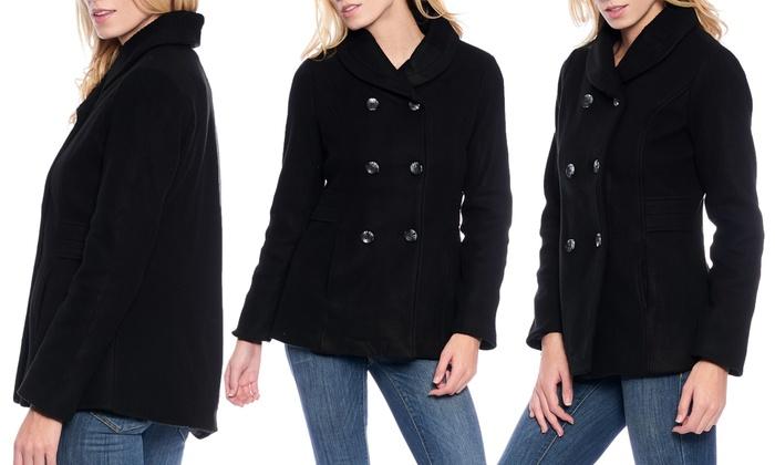 womens pea coats with hood coat racks