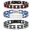 Steeltime Men's Two-Tone Stainless Steel Bicycle Chain Link Bracelet