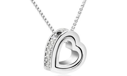 1 ou 2 colliers Hold my Heart de la marque Romatco ornés de cristaux