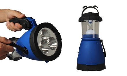 LED Rechargeable Hand Crank Camping Lantern/Flashlight