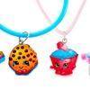 Shopkins Cupcake Chic and Kooky Cookie Jewelry Set (4-Piece)