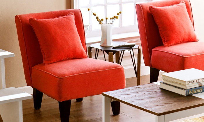 Set Of Two Accent Chairs | Groupon