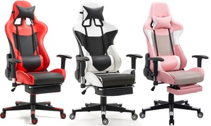 Ergonomic High-Back Gaming Office Chair w/ Lumbar Support and Footrest