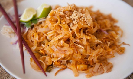 $17.25 for $30 Worth of Thai Food at Pom's Thai Restaurant. Available at 3 Locations.