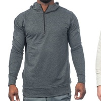 Warriors & Scholars Mens Soft Quarter Zip Hooded Pullover