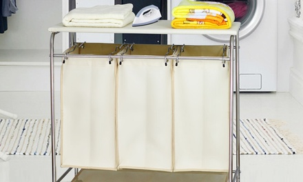$45 for a Laundry Hamper with Triple Sorting Bags and Removable Ironing Board